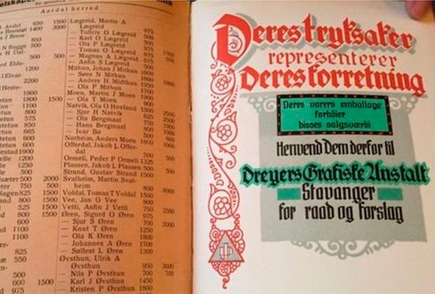 В Норвегии с 1814 года все доходы населения и отчисляемые налоги фиксировались в специальной книге