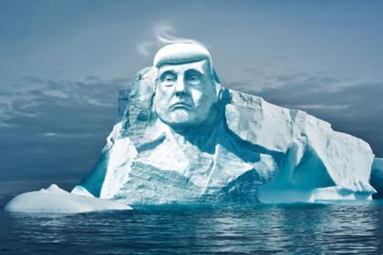 Экологи вырубят огромную голову Трампа во льдах Арктики