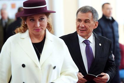 Рустам Минниханов с супругой Гульсиной
