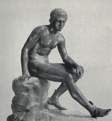 Скульптура «Отдыхающий Гермес», римская копия с оригинала Лисиппа, IV век до нашей эры