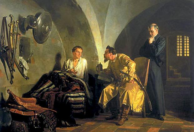 Николай Неврев «Дмитрий Самозванец у Вишневецкого»