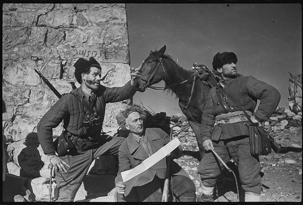 Партизаны на Кавказе. Северная Осетия, 1942.