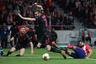 Футболисты «Атлетико» и «Арсенала»