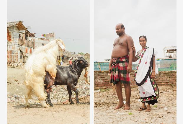 На снимках Уддина много шума и движения, что особенно заметно в Here, For Now. Сам фотограф объясняет идею проекта так: «Я хотел показать состояние людей, которые каждый день вкладываются в Дакку, но у них самих нет постоянного дома».
