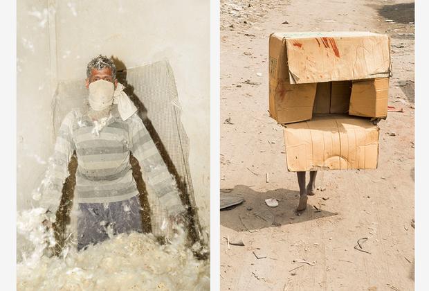 Уддин работал в пригороде Рейер Базар на окраине Дакки: «Вы точно поймете, когда окажетесь в этом районе: в нос ударит резкий запах канализации, а на коже толстым слоем осядет пыль».