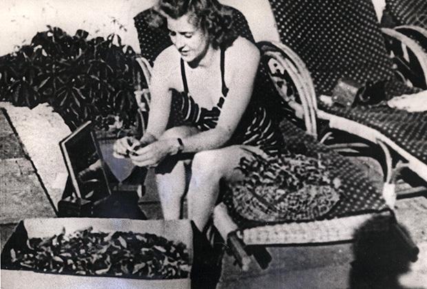 Ева Браун на отдыхе