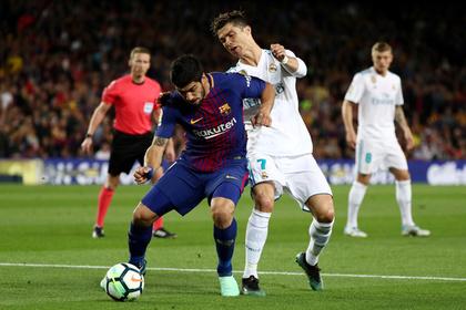 Футболисты «Барселоны» и «Реала»
