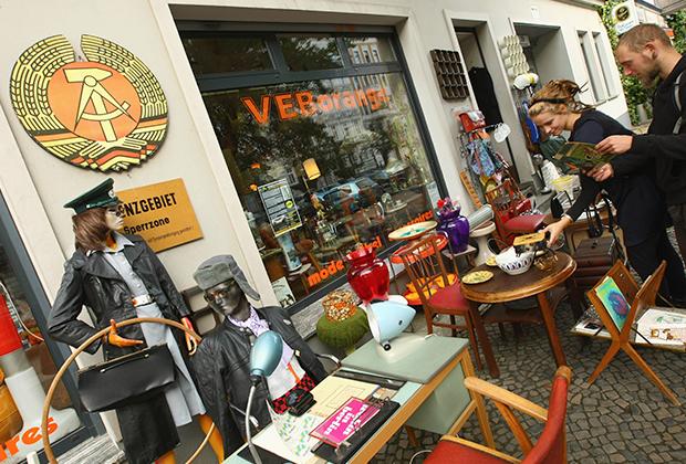 Магазин товаров с символикой бывшей ГДР
