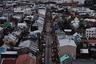 Вид на главную улицу Рейкьявика с верхнего этажа Хадльгримскиркьи.