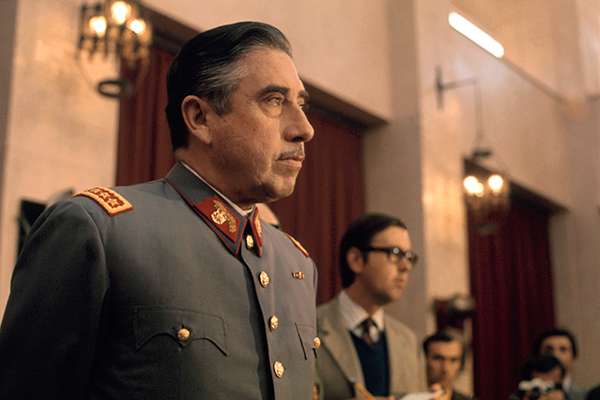 General Augusto Pinochet, head of Chile's ruling military junta, holds a news conference at Santiago's War College on September 21, 1973. Pinochet states that neither the US nor any other foreign nation was involved in the coup d'etat that overthrew the Marxist government of President Salvador Allende.