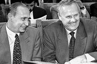 Владимир Путин и Анатолий Собчак