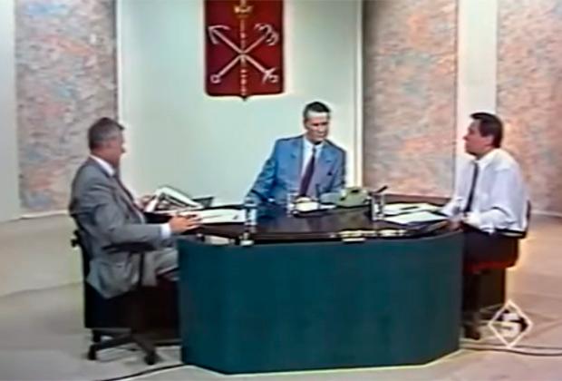 Анатолий Собчак на дебатах с  Владимиром Яковлевым