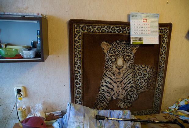 Постояльцы специнтерната обычно проживают по три-четыре человека. Помещения напоминают комнаты в студенческих общежитиях. На старых обоях видны темные длинные следы от воды. Вдоль стен стоят советские кровати, обшарпанный холодильник.
