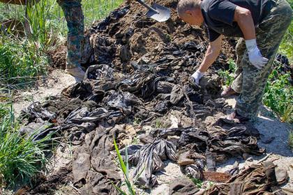 В скотомогильнике на Украине нашли вещи погибших в Иловайском котле бойцов АТО