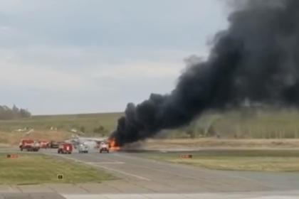 Истребитель МиГ-31 загорелся на аэродроме под Пермью