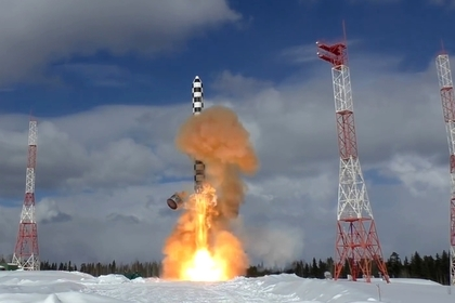 Запуск ракеты «Сармат»
