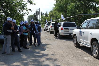 На Украине прогремел взрыв рядом с патрулями ОБСЕ