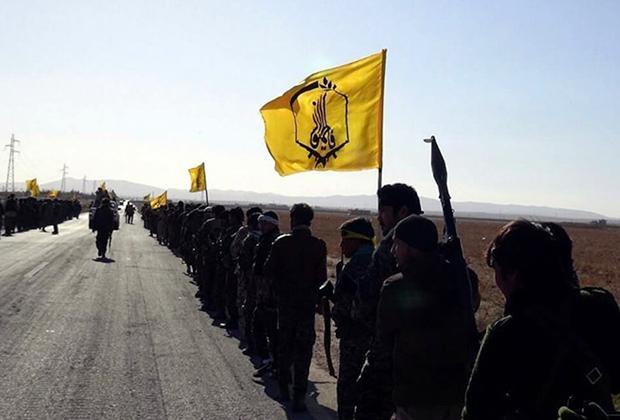 Боевики «Лива Фатимиюн» в районе Пальмиры, 2016 год