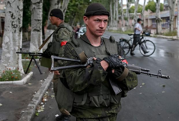 Украинские солдаты в Славянске