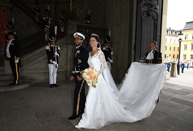 Новобрачные — принц Карл Филипп Шведский и принцесса София