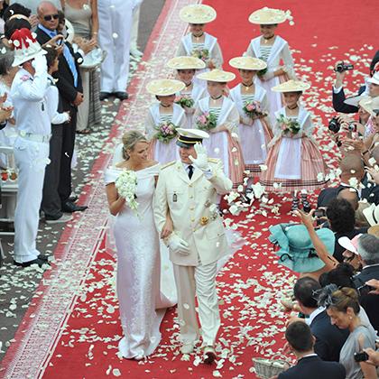 Свадьба Шарлен Уиттсток и князя Монакского Альбера II