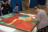 Впервые «Купание красного коня» экспонировалось на выставке общества «Мир искусства». Поместив полотно на центральной стене, организаторы подчеркнули его декларативный характер. Особое место займет оно и на выставке в Русском музее.