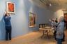 Еще в юности, наблюдая за работой иконописцев в родном Хвалынске, Петров-Водкин пробовал писать иконы. С тех пор религиозная тема в различных ее преломлениях прочно вошла в его творчество. Эта картина создана в годы Первой мировой войны.  На первом плане — Владимир Алексеевич Леняшин, заведующий отделом живописи второй половины XIX— начала XXI века.