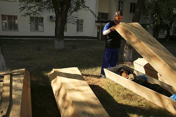 Похороны участников войны в Донбассе