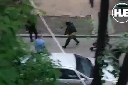 Появилось видео с места захвата заложников в Москве