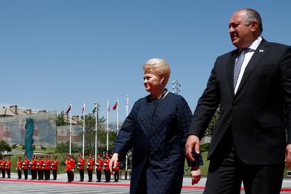 Президент Литвы Даля Грибаускайте и президент Грузии Георгий Маргвелашвили