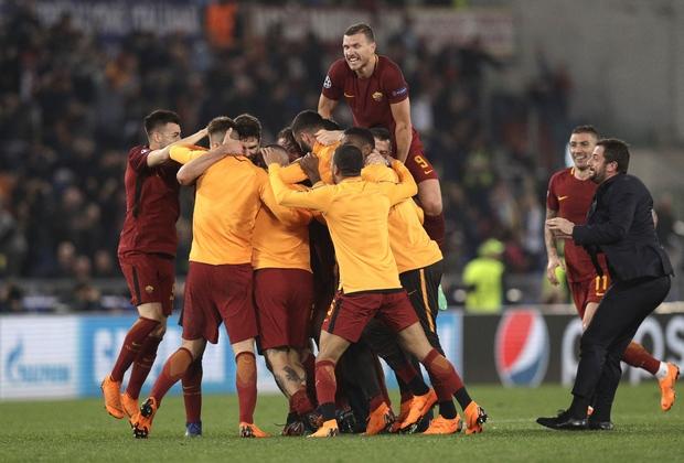 «Рома» после победы над «Барселоной»