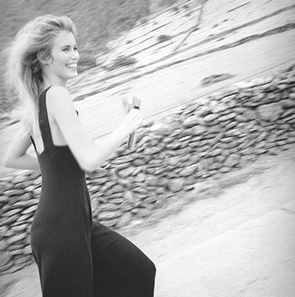 ...и в платье с уложенными. Cен-Бартелеми, 1993 год.