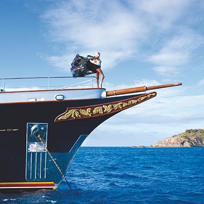 На Сен-Барте хороши не только виды и женщины, но и яхты. Сен-Барт, 2016 год.
