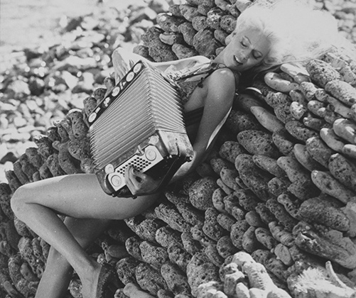 Женщинам на острове так хорошо, что руки сами тянутся к аккордеону.