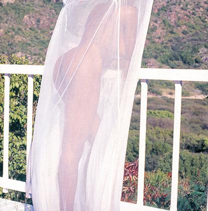 Иногда из одежды девушке достаточно и москитной сетки. Сен-Бартелеми, 1989 год.