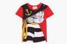 Все дети — и мальчики, и девочки — немного котики. Подчеркнуть этот факт поможет младенческая футболка с застежкой на плече и принтом в виде кота-моряка по эскизу японской художницы Юко Хигучи.