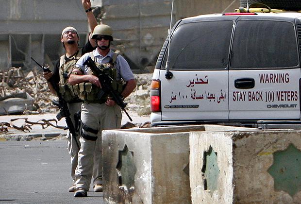 Бойцы ЧВК около Багдада