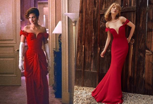 """«Гарри (Гарри Маршалл — режиссер фильма «Красотка». — прим. «Ленты.ру») не хотел красное платье, он хотел черное.А я знала, что оно должно быть именно красным, и боролась за свой вариант.В итоге перед тем, как принять окончательное решение, мы сшили три разных платья. Мы брали каждый цвет, освещали его и делали тестовые снимки с Джулией. Бедная Джулия! Сколько ей пришлось перенести цветовых проб ради одного платья. Наконец, при правильном освещении я смогла найти нужный оттенок и убедила всех», — вспоминает художница по костюмам и автор вечернего платья героини «Красотки» Мэрилин Вэнс. С тех пор легендарный наряд вдохновляет женщин по всему миру. Например, в 1991 году Синди Кроуфорд, которая была женой Ричарда Гира во времена «Красотки», пришла на церемонию вручения премии «Оскар» в похожем платье Versace.  А недавно, в конце мая, у бренда Reformation появился аналог знаменитого платья, который можно заказать на <a href=""""https://www.thereformation.com/products/bali-dress?utm_campaign=likeshopme&utm_term=www.instagram.com/p/BjKkp42AXX6/&color=Lipstick&utm_content=www.instagram.com/p/BjKkp42AXX6/&utm_source=instagram&utm_medium=organic"""" target=""""_blank"""">сайте</a> за 388 долларов."""