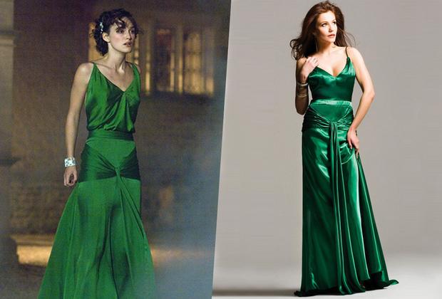"""По мнению издания In Style, своей красотой изумрудно-зеленое платье Киры Найтли из драмы «Искупление» затмило культовые наряды Мэрилин Монро и Одри Хепберн. Журнал назвал его самым запоминающимся платьем в истории кинематографа, а дизайнер Жаклин Дюрран получила за него премию «Оскар» в номинации «Лучший дизайн костюмов». В 2008 году платье выставили на торги. Вырученные деньги обещали перевести детской благотворительной организации Variety.  На <a href=""""https://www.thecelebritydresses.com/keira-knightley-green-vintage-evening-dress-in-movie-atonement-for-sale-ts0002.html"""" target=""""_blank"""">сайте</a> The celebrity dresses похожее платье продается со скидкой по цене 129,99 доллара."""