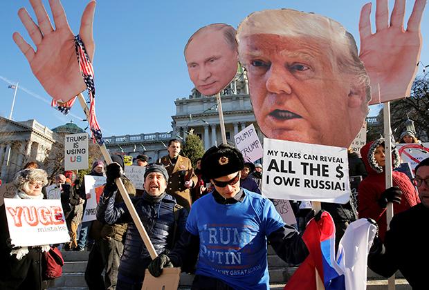 Демонстрация в США против политики президента Дональда Трампа