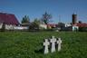 Старое немецкое кладбище на окраине поселка, от которого не осталось ни одной плиты — все они разворованы. Памятные кресты установили немцы совсем недавно.