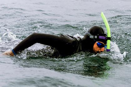 Французский пловец начал заплыв через Тихий океан