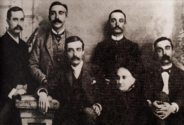 Томас Меллон с семейством