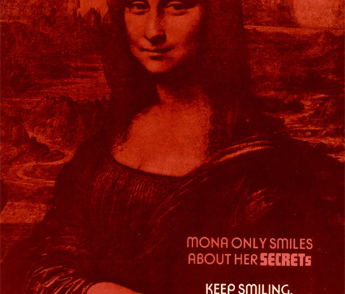 Бессмертное творение Леонардо да Винчи используют все кому не лень, и АНБ тут не исключение. <br><br> <i>«Мона лишь улыбается о своих секретах. Продолжай улыбаться».</i>
