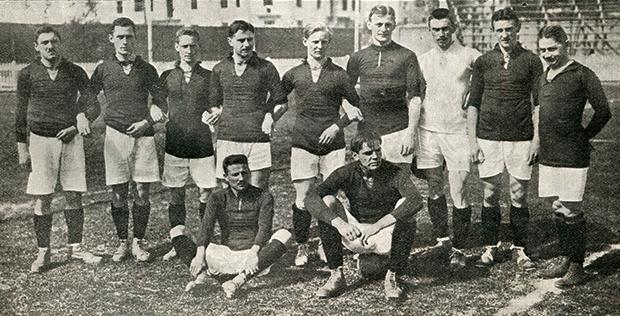 Сборная Германии на Олимпиаде-1912. Победа над олимпийской сборной России (16:0) до сих пор остается самой крупной победой в истории немецкой сборной