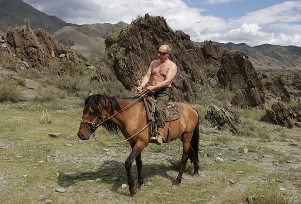 Владимир Путин на отдыхе на Алтае