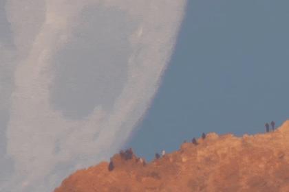 Падение Луны на Землю показали на видео