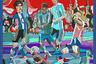 Шелковый платок превращен в картину: чемпионат мира мечты с участием легенд футбола разных лет. На фоне Кремля и храма Василия Блаженного в штрафной сражаются футболисты. Майка с номером «7» у Роналду, номером «10» — у Марадоны, номером «1» — у Льва Яшина и номером «10» — у Пеле. Номер на майке Зинедина Зидана не виден, так как в разных командах он выступал под разными номерами.