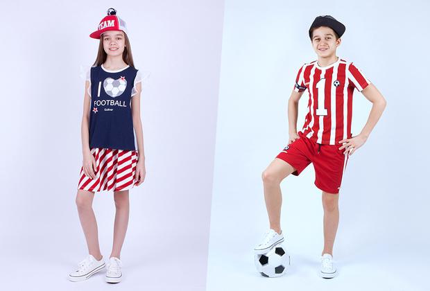 Компания Gulliver, производитель детской одежды и аксессуаров, в полном соответствии с концепцией гендерного равноправия приготовила форму и для юных болельщиц, и для юных болельщиков. Одежду в цветах российского флага дополняют смешные аксессуары вроде кепок с помпонами.