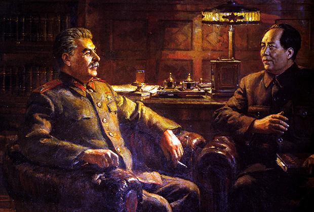 Иосиф Сталин и Мао Цзэдун
